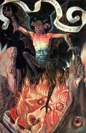 Hell, right hand panel from the Triptych of Earthly Vanity and Divine Salvation