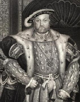 Portrait of King Henry VIII (1491-1547) from 'Lodge's British Portraits', 1823 (litho)