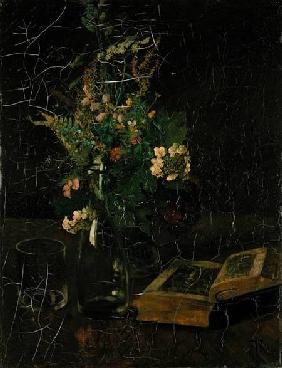 Still Life with a Bunch of Flowers and a Bible