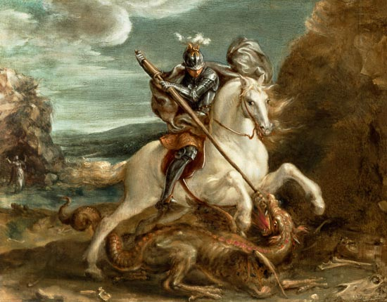 St. George slaying the dragon - Hans von Aachen