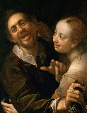 A Laughing Couple, self portrait of the artist with his wife (Scherzendes Paar)