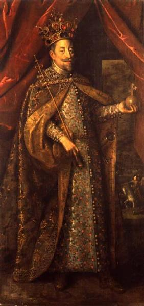 Emperor Matthias of Austria in Bohemian Coronation Robes