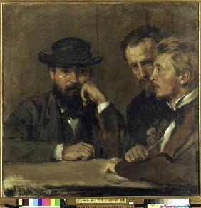 Self-portrait with Hildebrand and Grant.