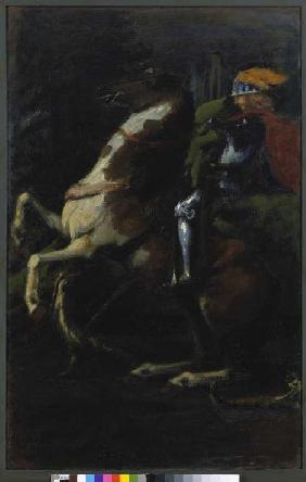 Triptych the three riders, right panel: St. Georg