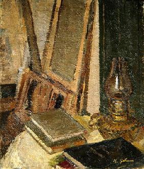 Studio Interior (oil on canvas)