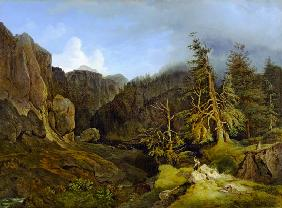Mountains landscape from Grisons