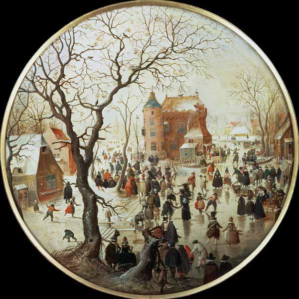 Winter Scene with Skaters near a Castle