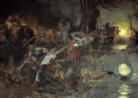 Svyatoslav's I of Kiev Warriors Fighting during the Siege of Dorostolon in 971