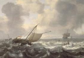 Anthonissen, Hendrik van : Ships on a Choppy Sea