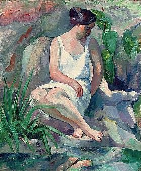 Seated bathers at Cassis (Jeanne)