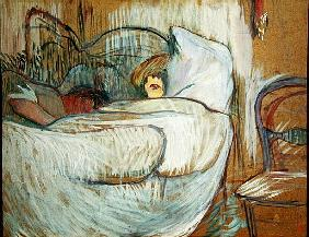 In Bed, 1894 (oil on card)