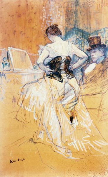 Resultado de imagen de woman in a Corset Henri toulouse-lautrec,