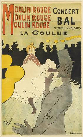 Poster advertising 'La Goulue' at the Moulin Rouge