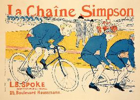 Reproduction of a poster advertising 'The Simpson Chain', Paris