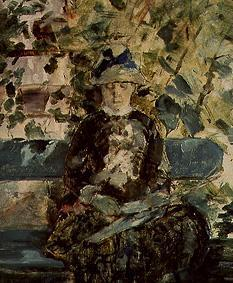 The Comtesse A.Toulouse Lautrec mother (of the artist) at reading in the garden