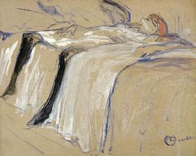 Woman lying on her Back - Lassitude, study for 'Elles'