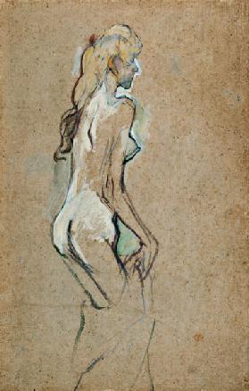 Nude Young Girl, 1893 (oil on card)