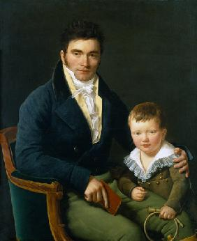 Portrait of a Member of the Barbet Family with his Son