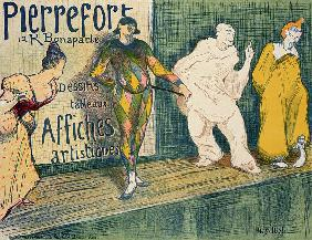 Reproduction of a poster advertising 'Pierrefort Artistic Posters', Rue Bonaparte