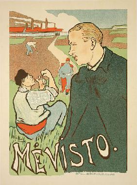 Reproduction of a poster advertising 'Mevisto', Paris