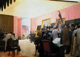 The jury sits in the drawing-room of the Artistes français 1883.