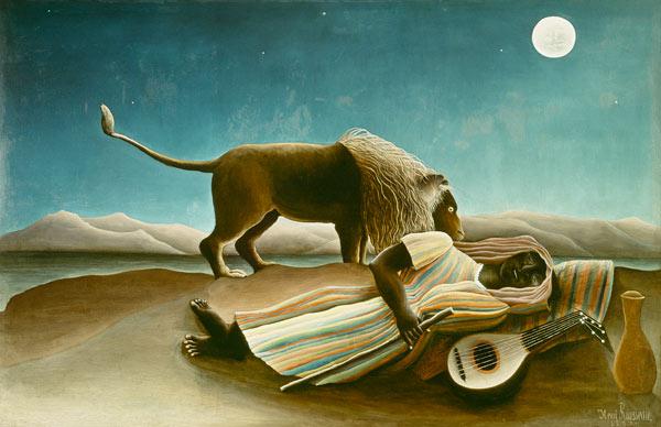 The Sleeping Gipsy Henri Rousseau As Art Print Or Hand