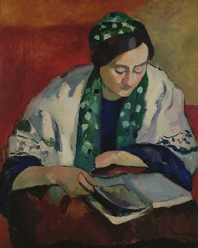 The Reader in the Green Bonnet, 1909