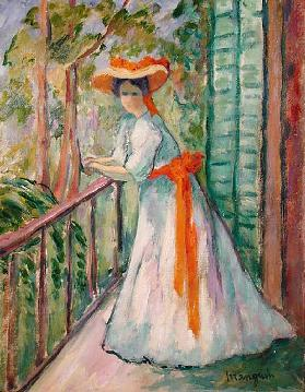 Woman on a Balcony, or Jeanne with an Orange Ribbon, 1907