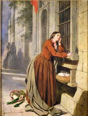 Mother Depositing Her Child in the Foundling Hospital in Paris