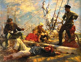 At Noon Rest On The Yachtsman Henry Scott Tuke As Art Print Or Hand Painted Oil
