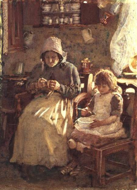 Grandmother And Child Yorkshire Henry Silkstone Hopwood