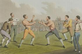 A Prize Fight, aquatinted by I. Clark, pub. by Thomas McLean, 1820 (aquatint)