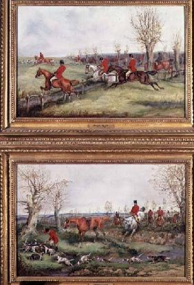 Pair of Hunting Scenes