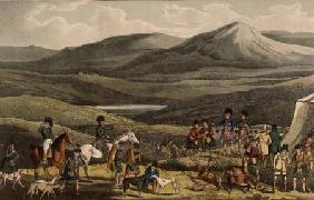 Sporting Meeting in the Highlands, aquatinted by I. Clark, pub. by Thomas McLean, 1820