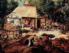 Landscape with Forge, detail of the foundry (detail of 316368)