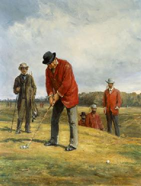 George Glennie Putting at Blackheath with Putting Cleek