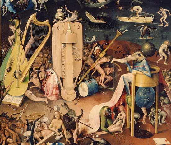 The Garden of Earthly Delights Hell, de , Hieronymus Bosch