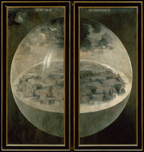 The Creation Of The World Closed Doors Hieronymus Bosch As Art Print Or Hand Painted Oil
