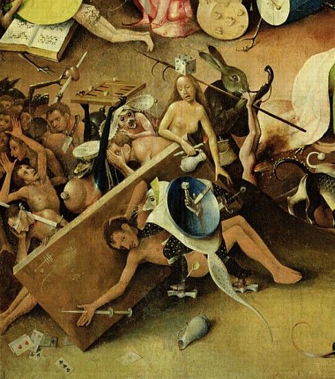 The Garden of Earthly Delights Hell ri Hieronymus Bosch as art