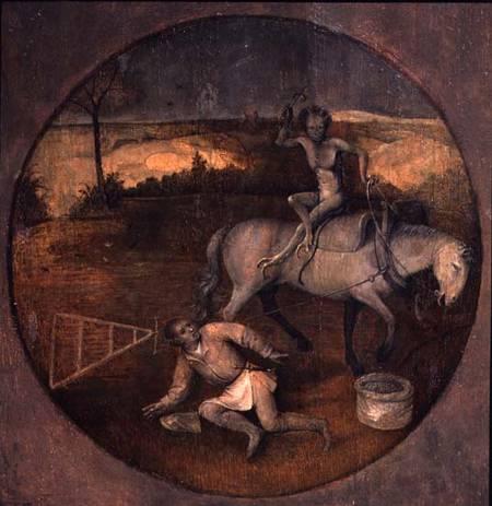 Ploughman unhorsed by demon - Hieronymus Bosch as art print or ...