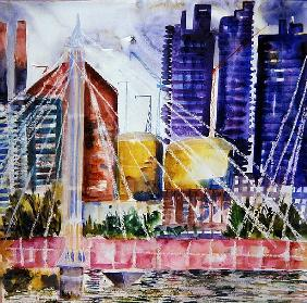Albert Bridge, 2006 (w/c on paper)