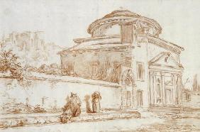 Villa Sacchetti, Rome (red chalk on paper)