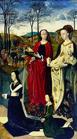 Portinari Altar, right wing: The Saints Margret and Maria Magdalena