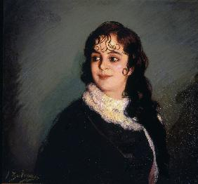 Portrait of a Girl with Curls