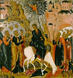 Move of Jesu in Jerusalem.