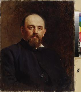 Portrait of Savva Mamontov, the founder of the first privat Russian opera theatre