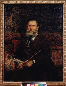 Portrait of the artist Alexei Bogolyubov (1824-1896)