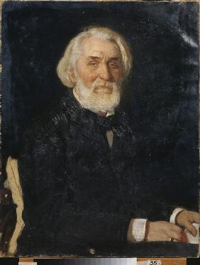 Portrait of the author Ivan S. Turgenev (1818-1883)