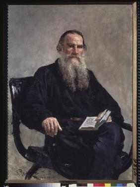 Portrait of the author Leo N. Tolstoy (1828-1910)
