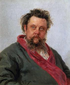 Portrait of the composer Modest Mussorgsky (1839-1881)